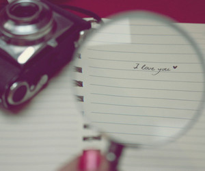 love, I Love You, and camera image