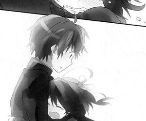 anime and hug image
