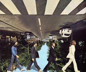 beatles, crazy, and distorted image