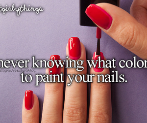 nails, color, and red image