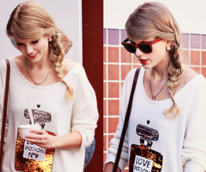 Taylor Swift, blonde, and perfume image