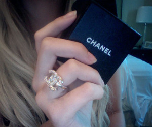 chanel, ring, and blonde image