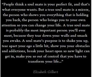 quote, soul mate, and love image