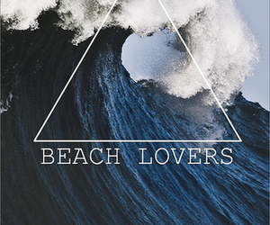 beach, lovers, and sea image