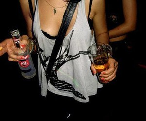 girl, drink, and party image