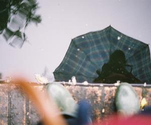 rainy day, pond, and vapor's image