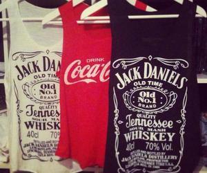 jack daniels, coca cola, and shirt image