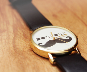 watch, moustache, and mustache image