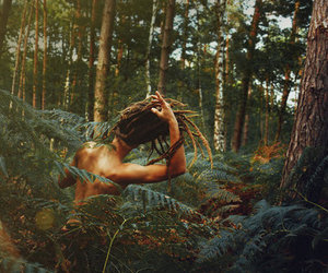 dreads, forest, and nature image