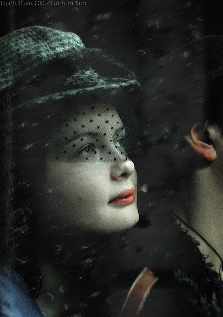 birdcage veil, girl, and hat image