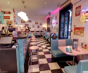 diner, retro, and 50's image