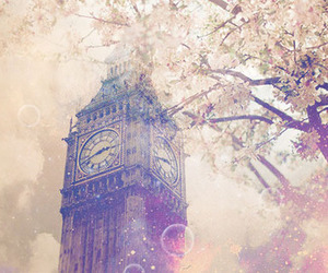 london, Big Ben, and flowers image
