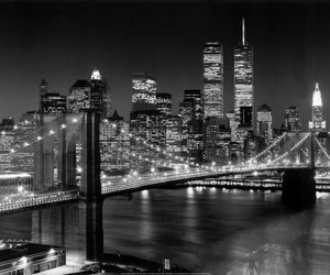 new york, city, and light image