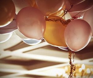pink, balloons, and lovely image