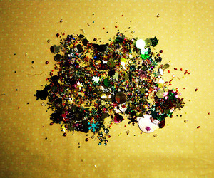 blue, green, and glitter image