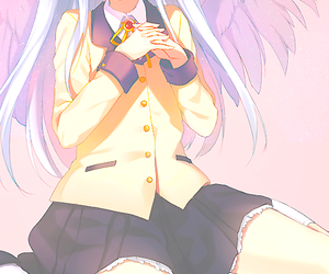 anime, angel, and angel beats image