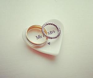 love, rings, and couple image