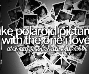 love, polaroid, and before i die image