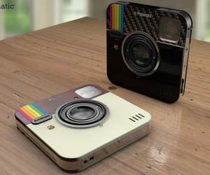 instagram, camera, and polaroid image