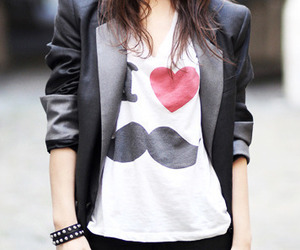 fashion, mustache, and moustache image
