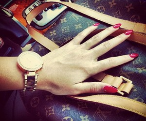 nails, fashion, and Louis Vuitton image