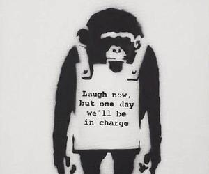 monkey and BANKSY image