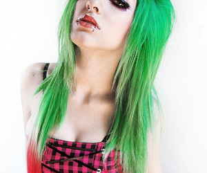 hair, piercing, and lindsay woods image