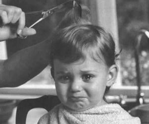 baby, hair, and cry image