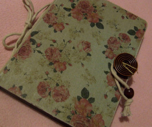 diary, flowers, and lovely image