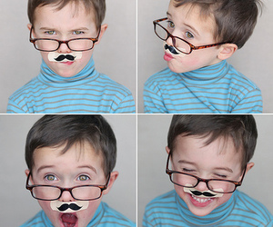 boy, moustache, and kid image