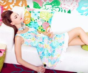 colorful, flower, and girl image