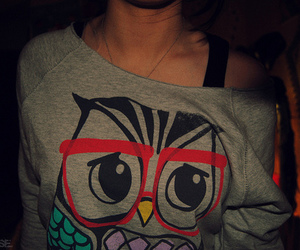 girl, owl, and photography image