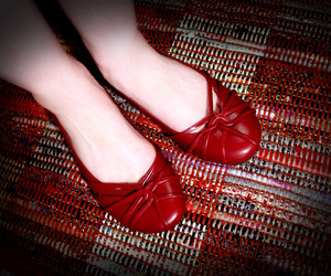 feet, red, and selfportrait image