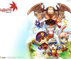 mmorpg, nerd, and maple story image