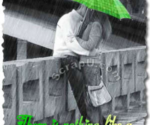 kisses and kiss in the rain... green image