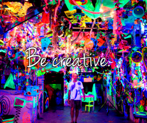 creative, colors, and neon image