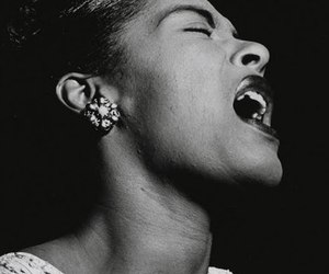 billie holiday, jazz, and singer image