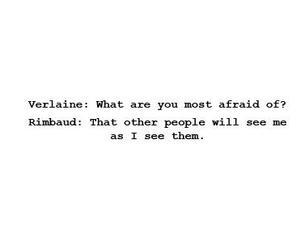 afraid, people, and rimbaud image