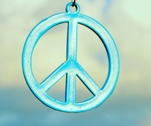 peace, blue, and sky image