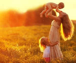 family, mother, and child image