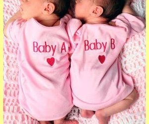 baby, twins, and pink image