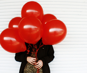 balloons, red, and fashion image