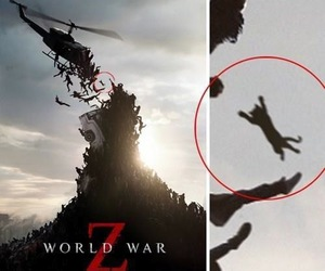 horror movie, poster art, and world war z image