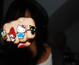 hello kitty, rings, and ring image