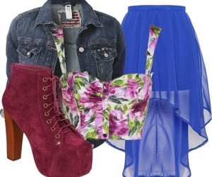 clothes, crop, and denim image