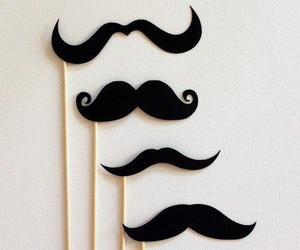 mustache, moustache, and black image