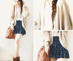 skirt, outfit, and bag image