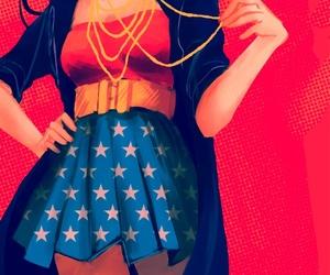 wonder woman, art, and comic image