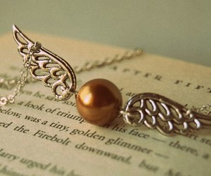golden snitch, hp, and necklace image