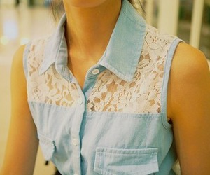 fashion, lace, and denim image